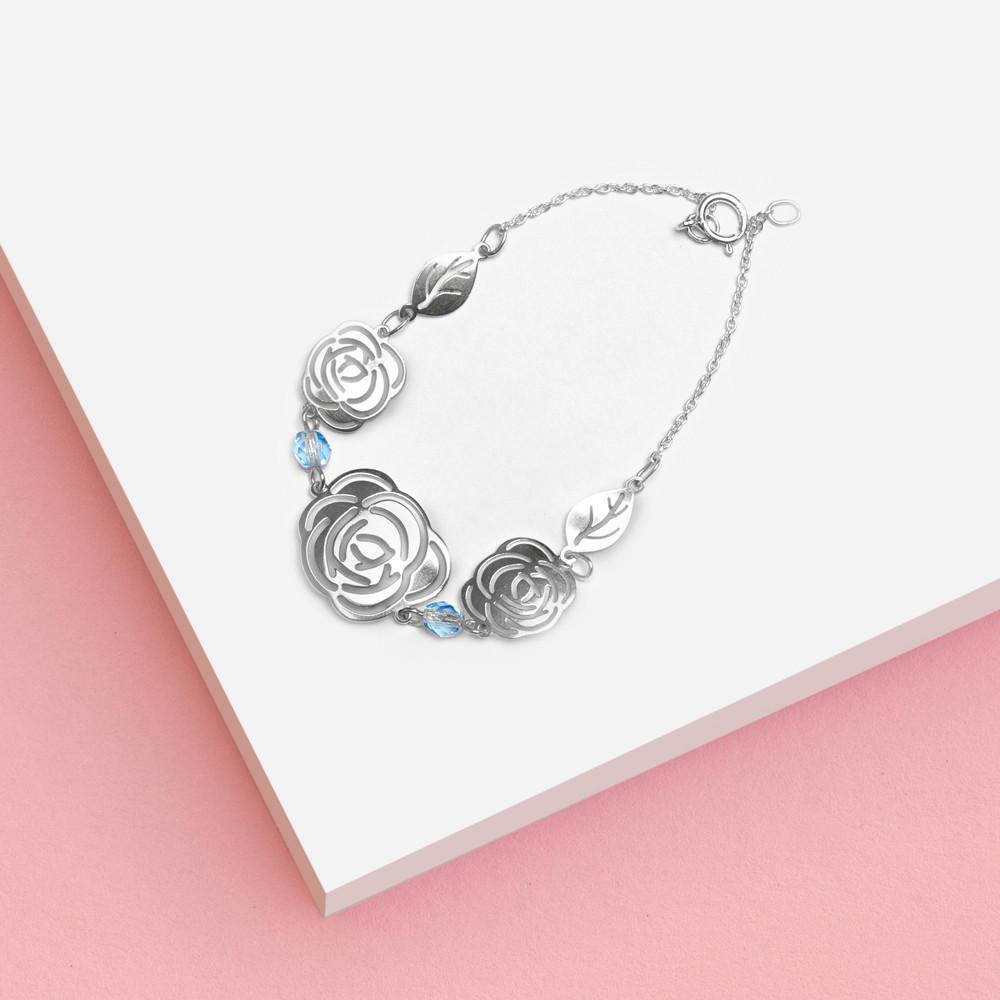 Stříbrný náramek Rose