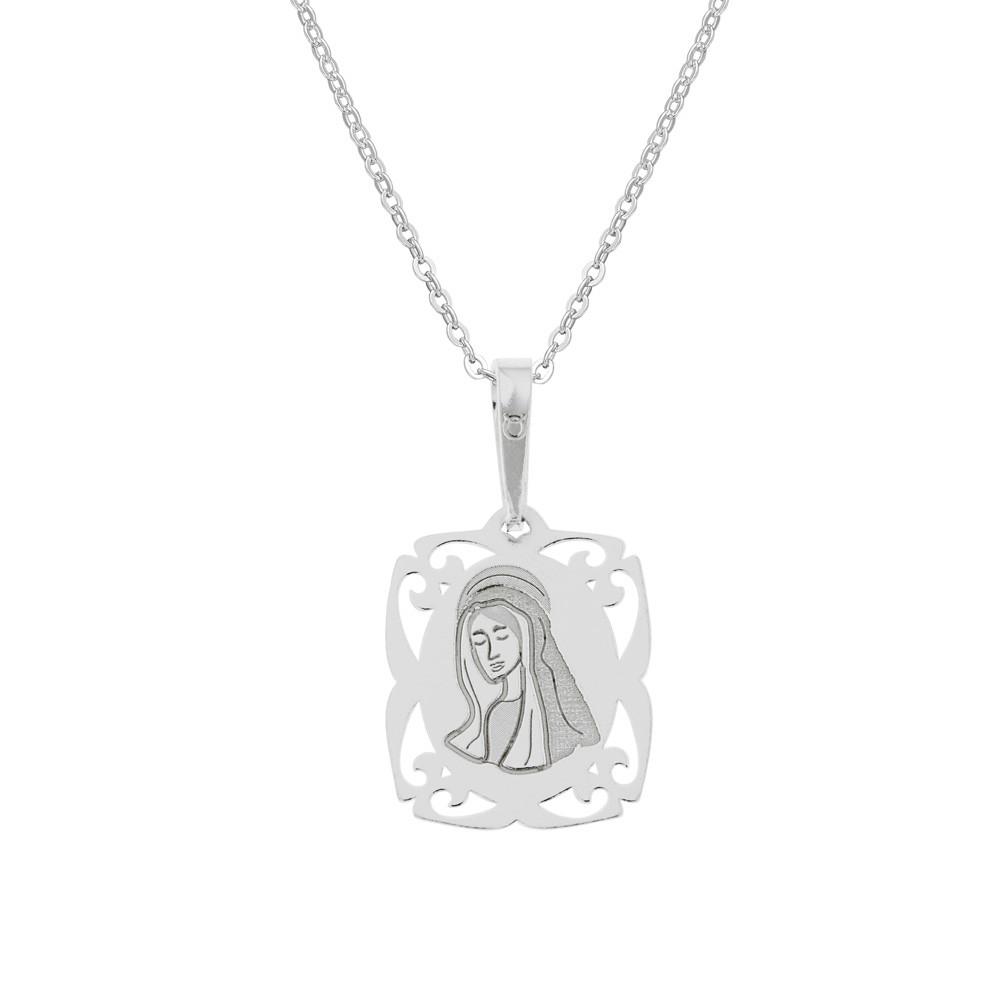 Stříbrný přívěsek na stříbrném řetízku Matka Boží