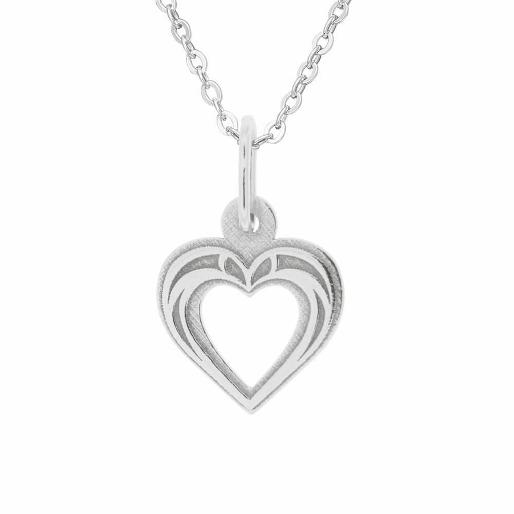 Dětský stříbrný přívěsek na řetízku Laskavé srdce
