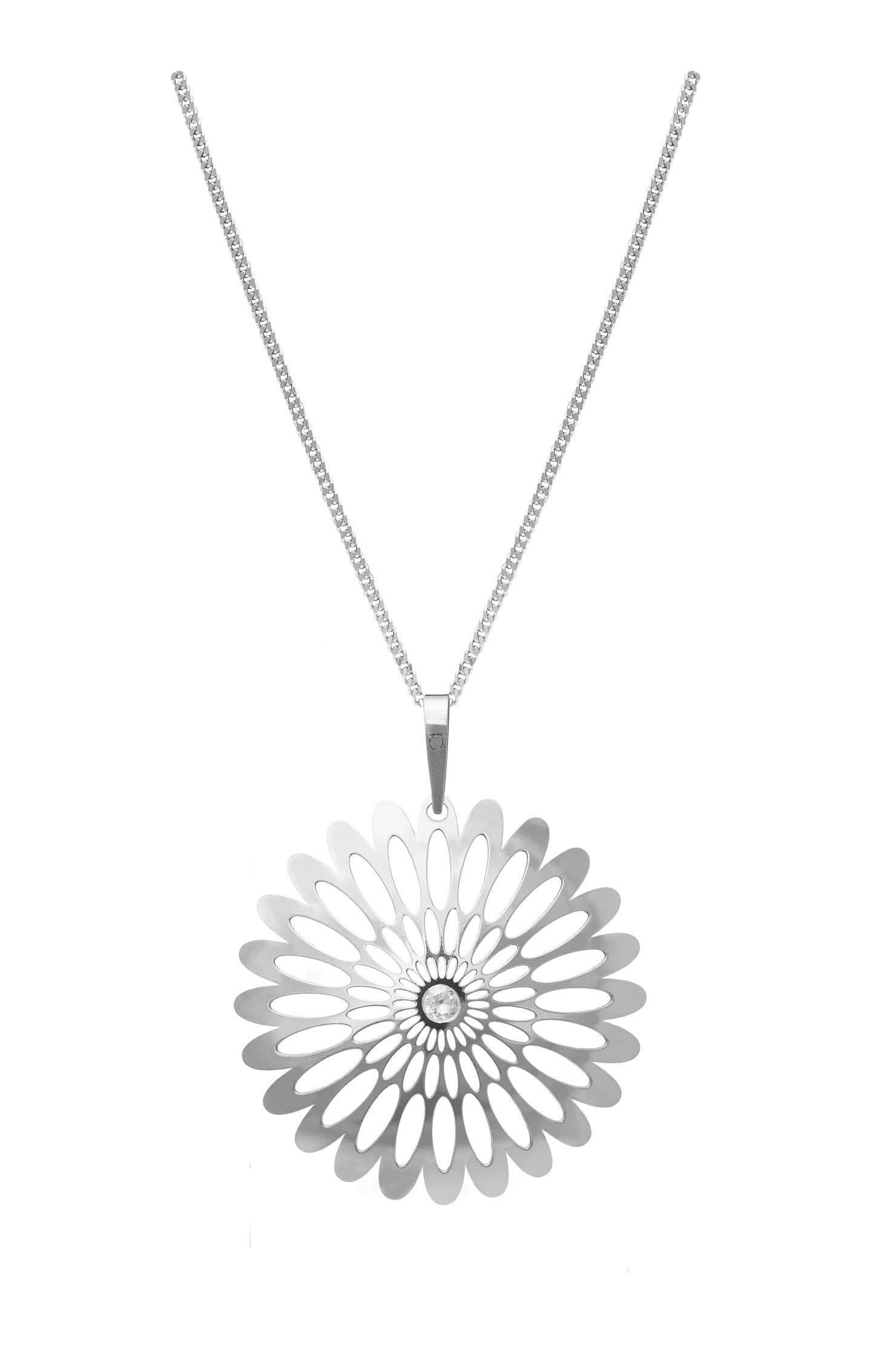 Stříbrný přívěsek na řetízku KO0941M_CU040_50 Shining Blossom