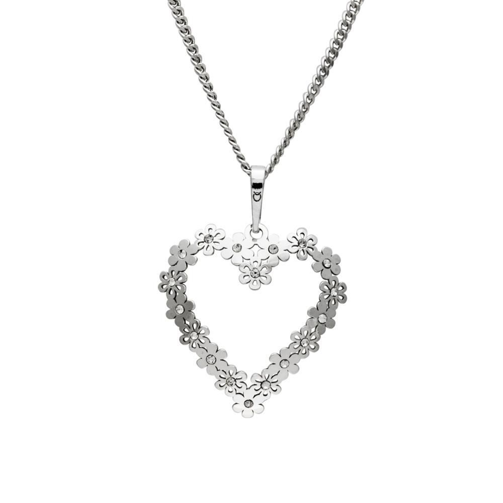 Stříbrný přívěsek na řetízku Heartbeat