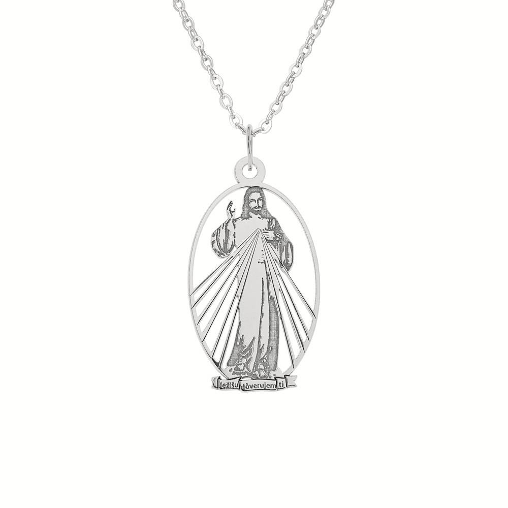 Stříbrný přívěsek na stříbrném řetízku Důvěrná modlitba