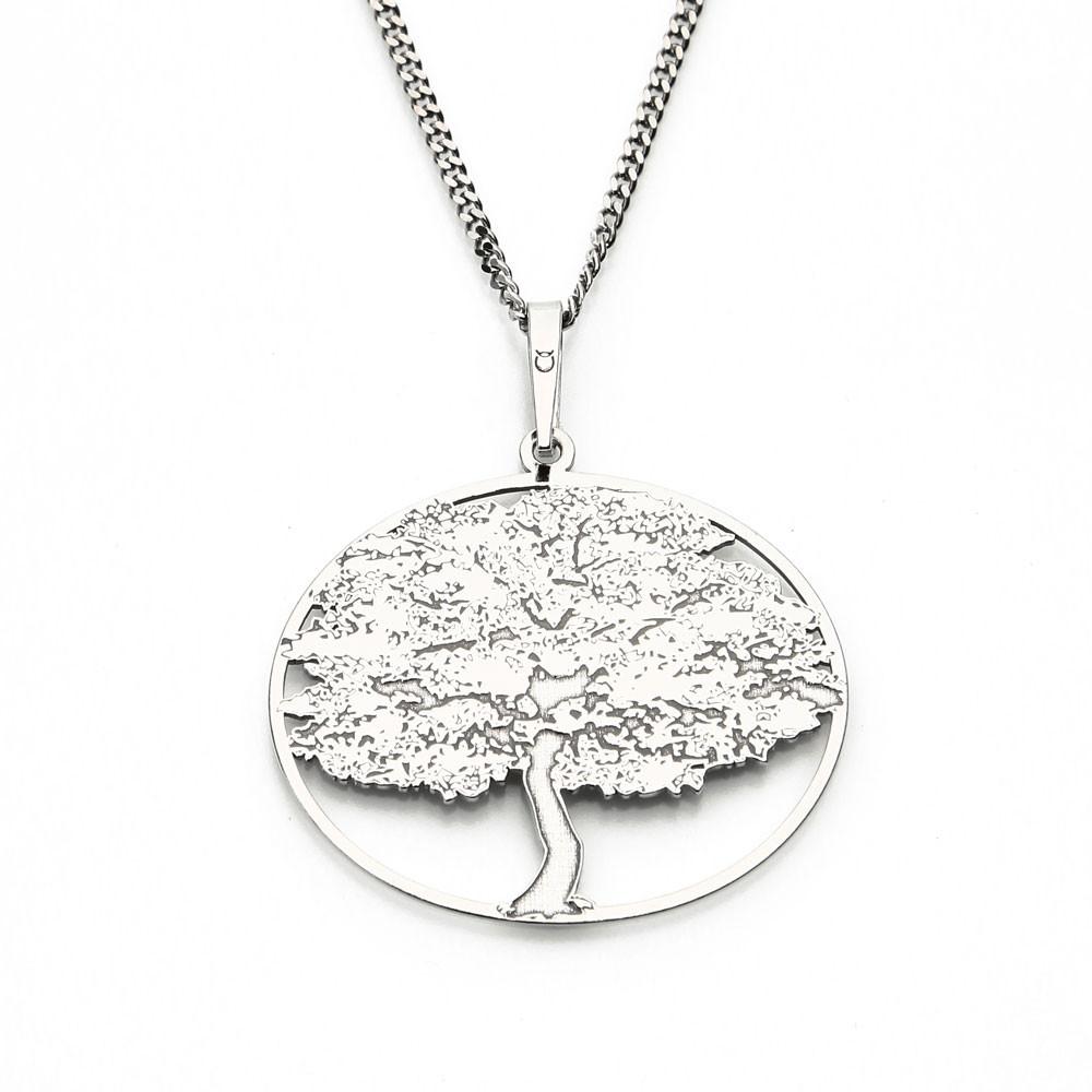 Stříbrný přívěsek na stříbrném řetízku Tree fo Life