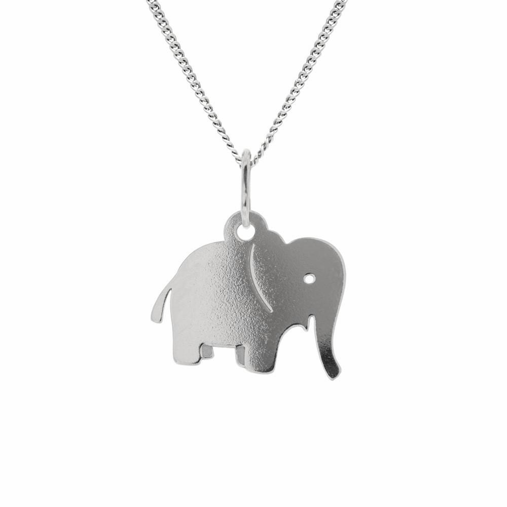 Dětský stříbrný přívěsek na řetízku Slon