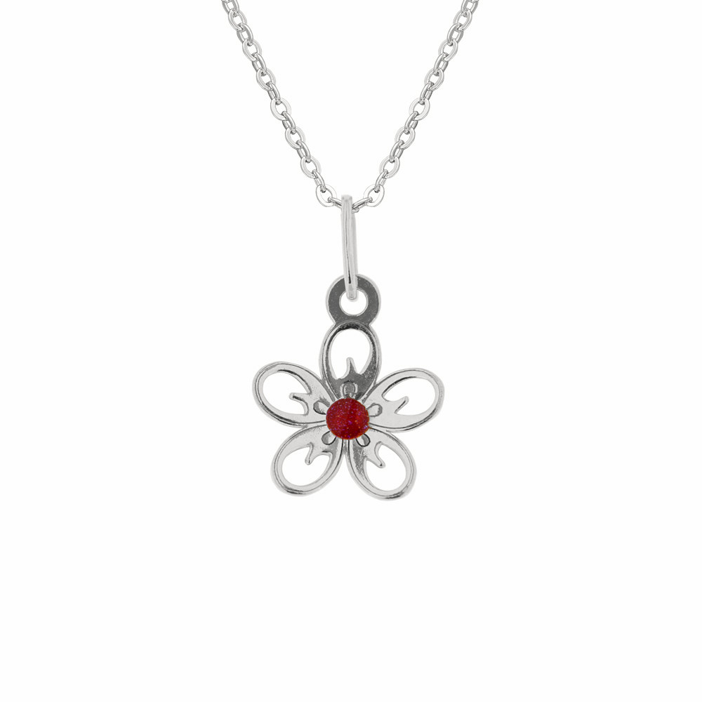 Dětský stříbrný přívěsek na řetízku Jabloňový květ