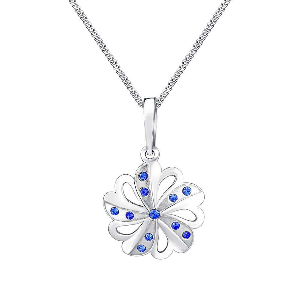 Stříbrný přívěsek na řetízku Sparkling Flower
