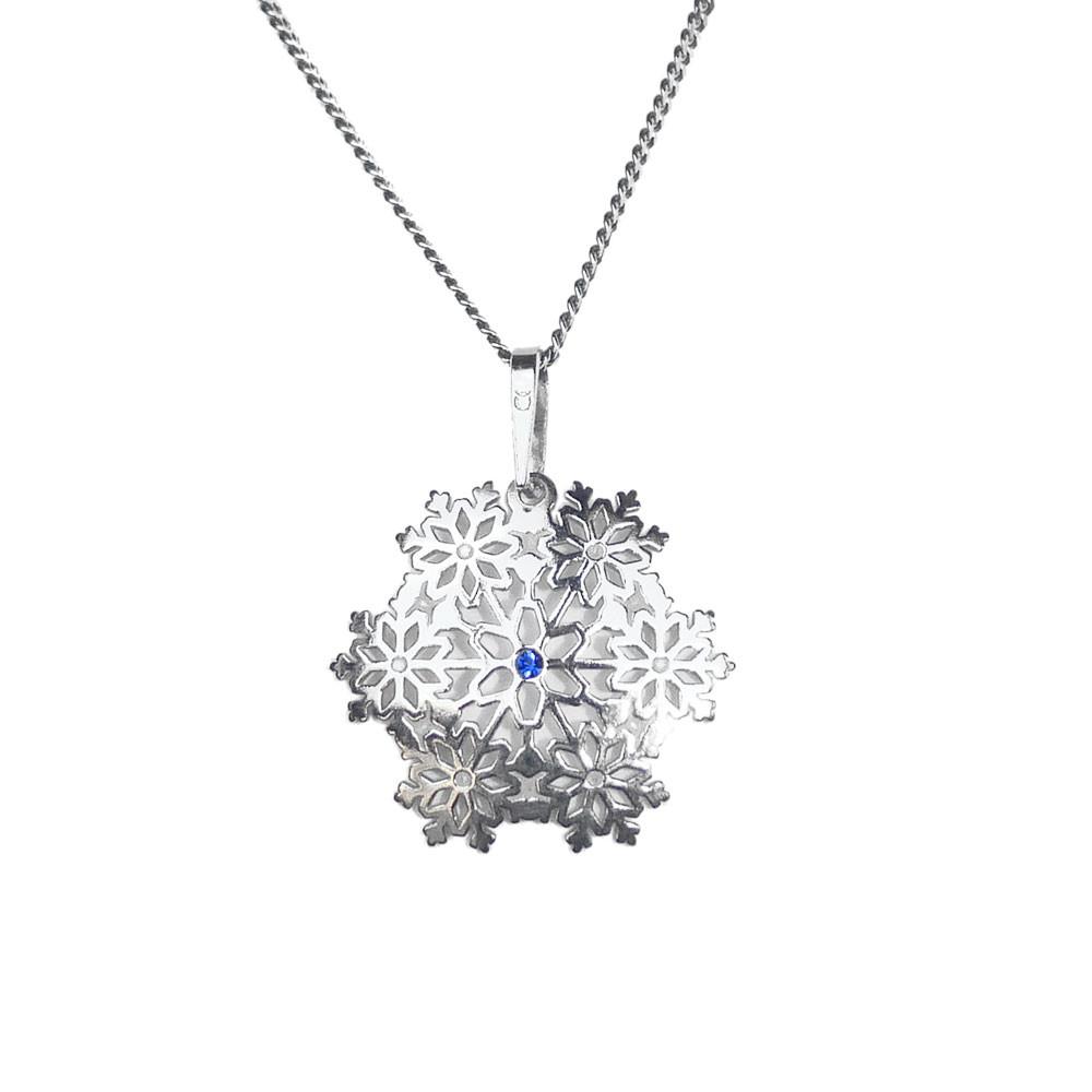 Stříbrný přívěsek na řetízku Snowflake