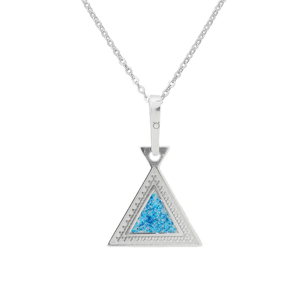 Stříbrný přívěsek na řetízku Triangle