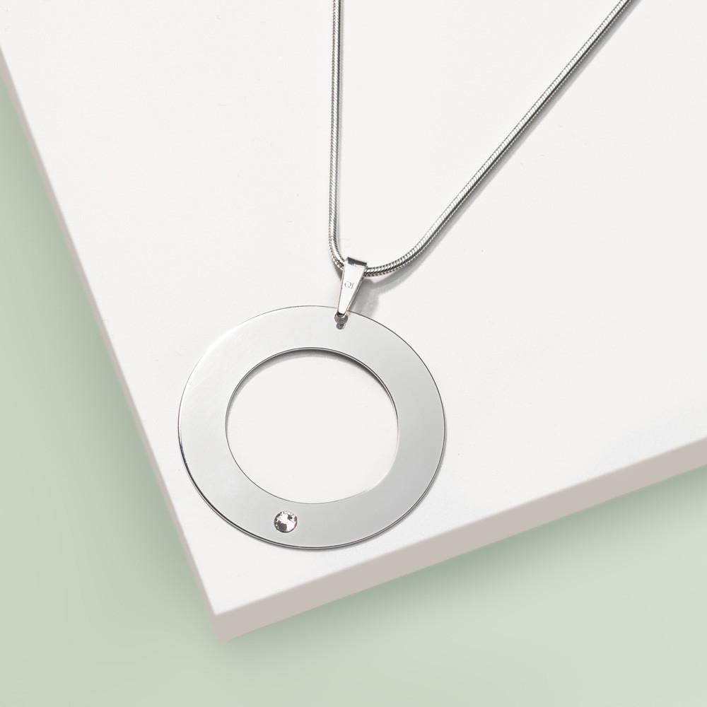 Stříbrný přívěsek na řetízku Simplicity