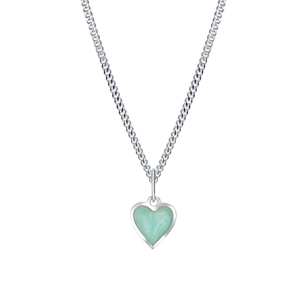Dětský stříbrný přívěsek na řetízku Mint srdce