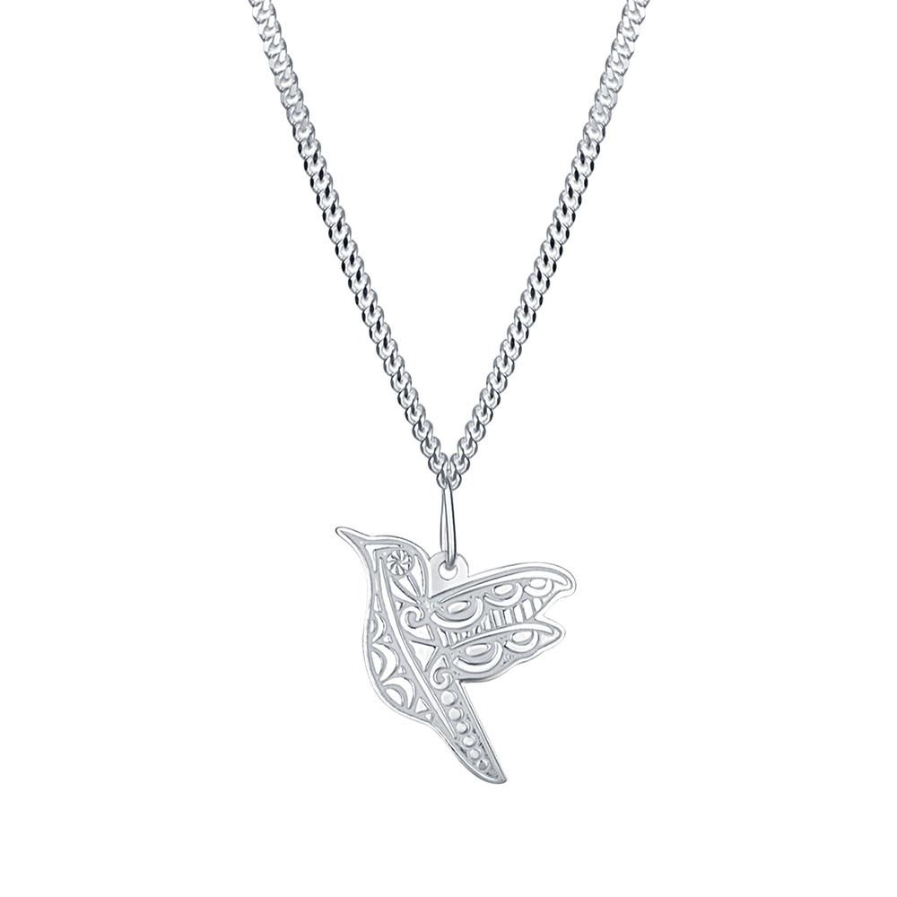 Stříbrný přívěsek na řetízku Kolibřík
