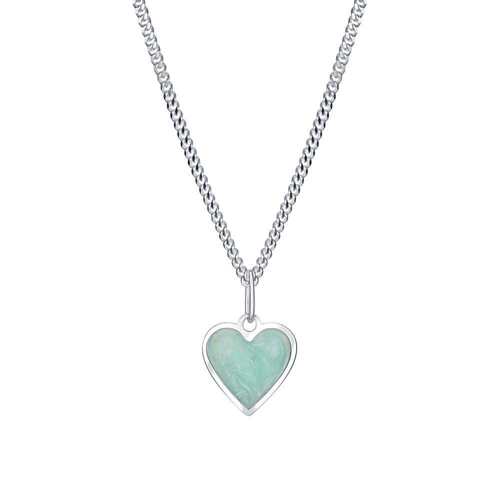 Stříbrný přívěsek na řetízku Mint heart