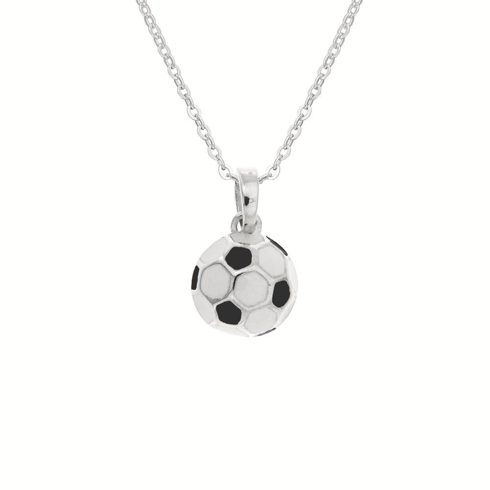 Dětský stříbrný přívěsek na řetízku Fotbal
