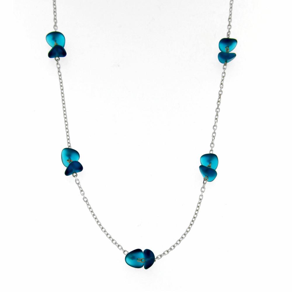 Stříbrný náhrdelník Blue Ice