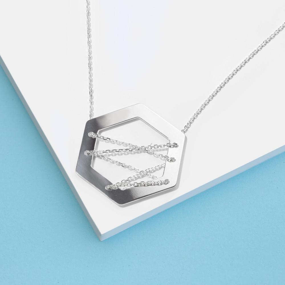 Stříbrný náhrdelník Izabel