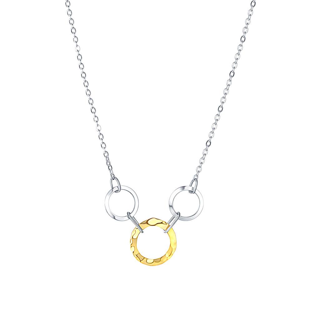 Stříbrný náhrdelník Shining rings
