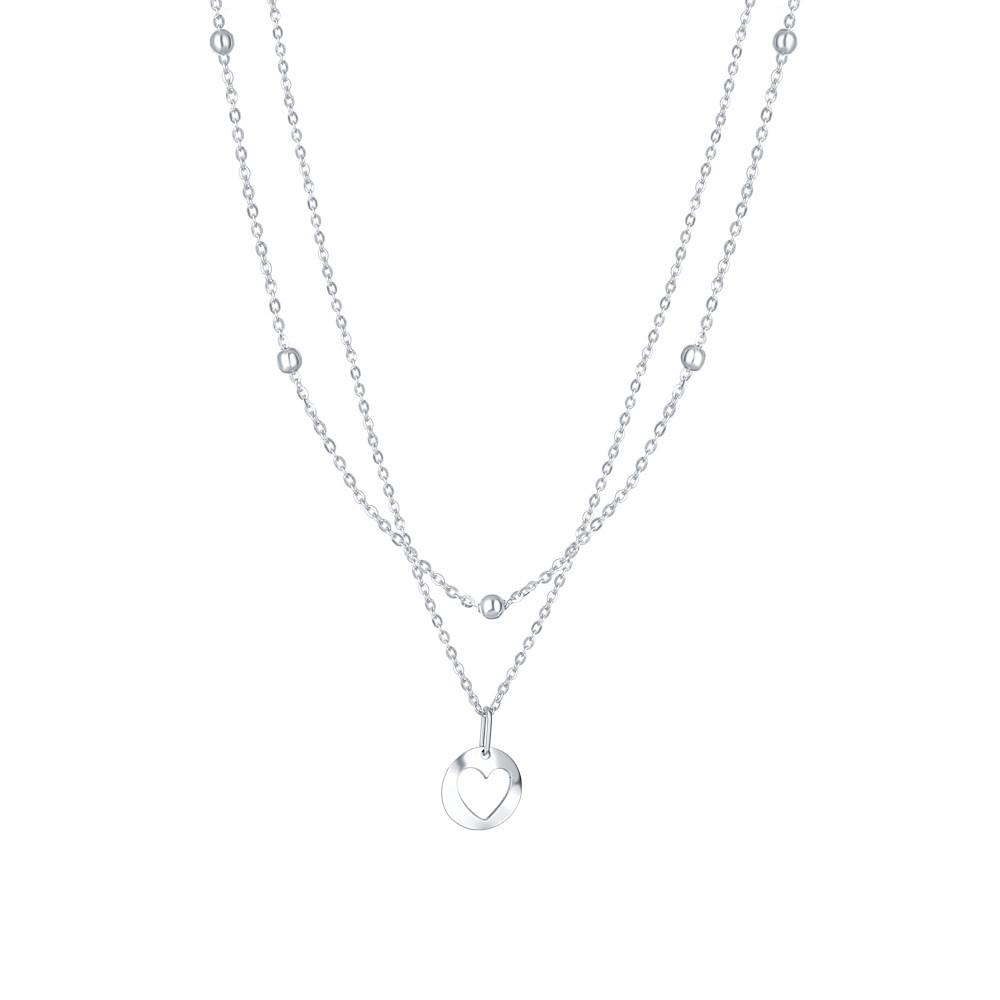 Stříbrný náhrdelník Twins
