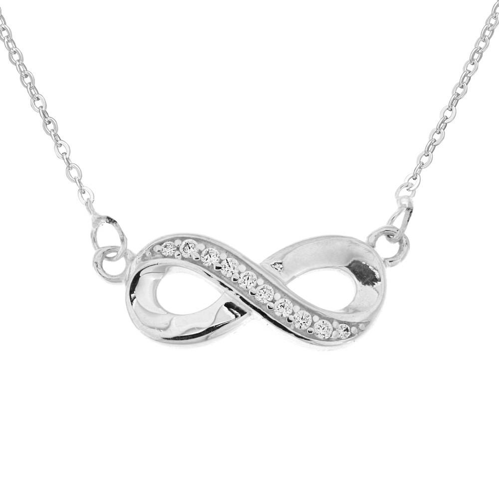 Stříbrný náhrdelník Infinity