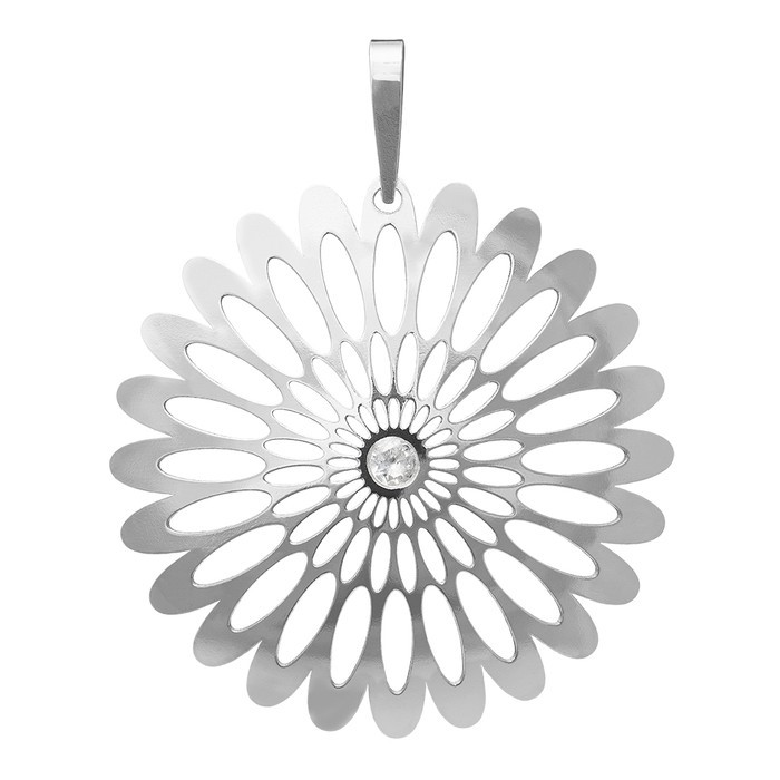 Stříbrný velký přívěšek PA0941v Magic orient Shining Blossom s kamínky Preciosa