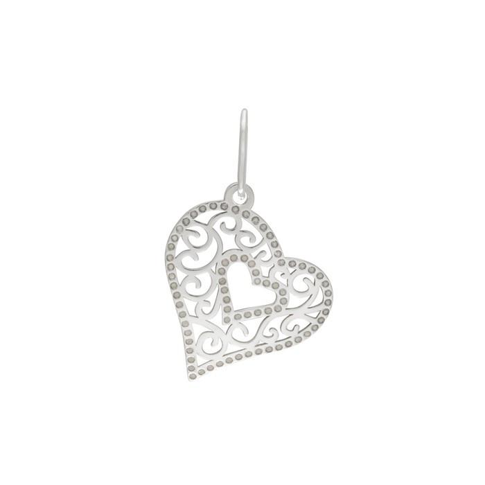 Stříbrný malý přívěšek PA1193m srdce