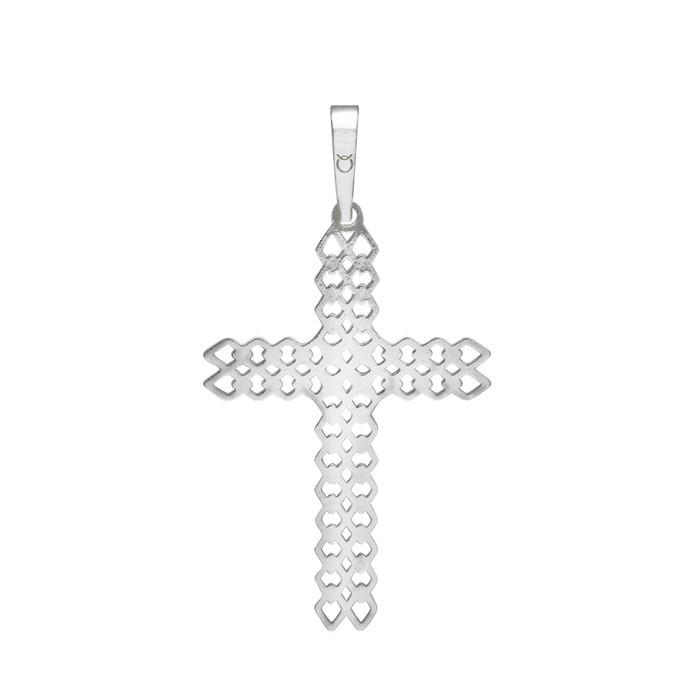 Stříbrný velký přívěšek PA1525 křížek