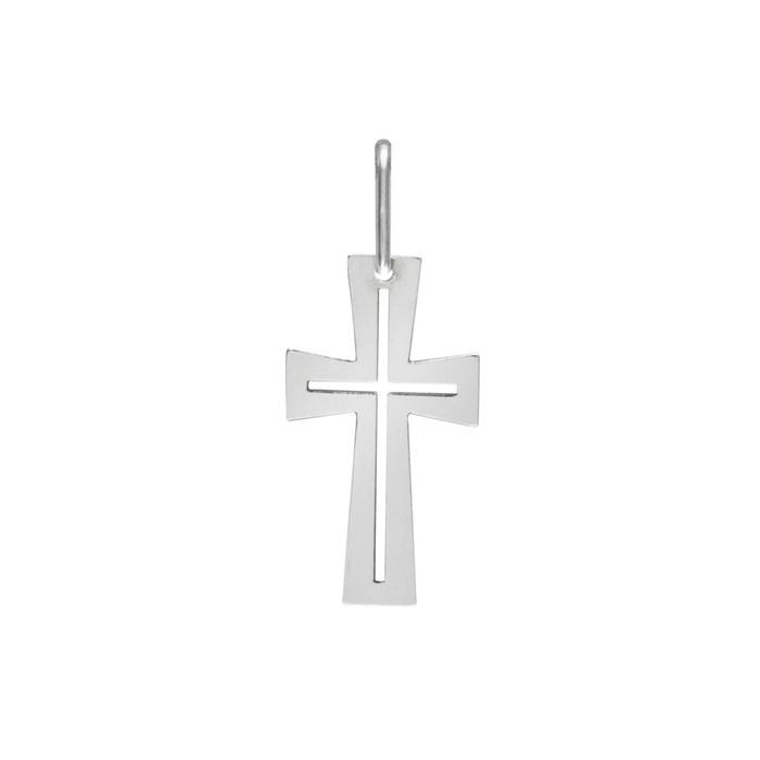 Stříbrný střední přívěšek PA1538 křížek