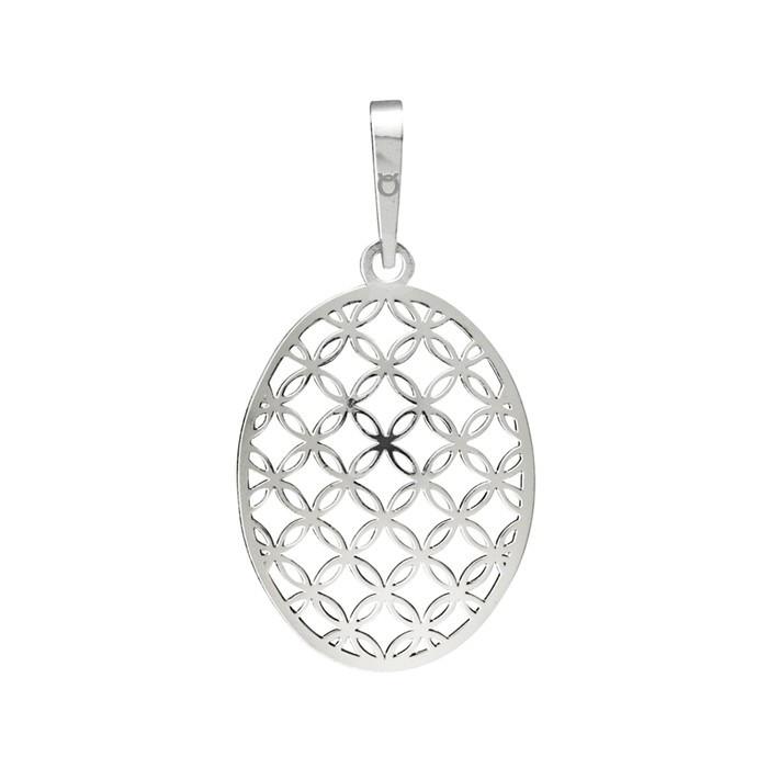 Stříbrný velký přívěšek PA1684 ornamenty