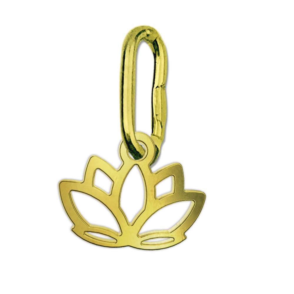 Zlatý přívěsek lotosový květ