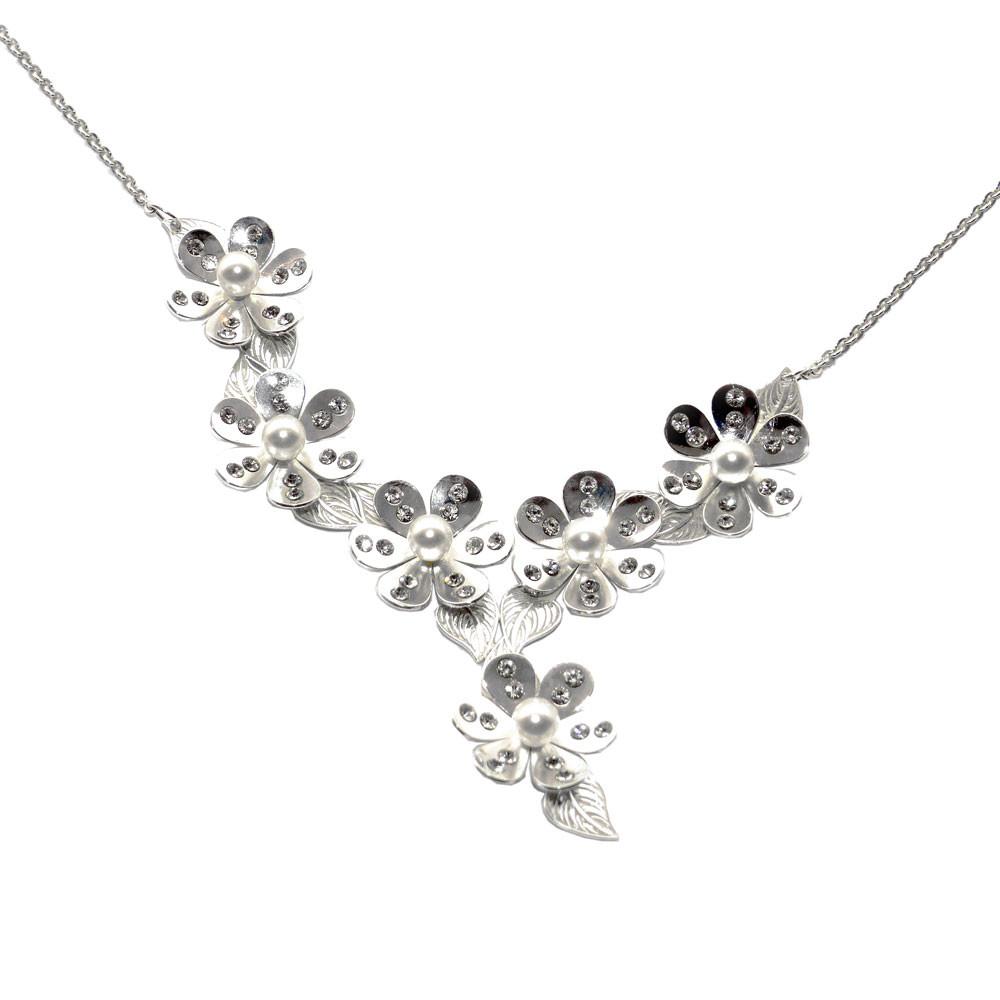 Stříbrný náhrdelník Magic Blossom