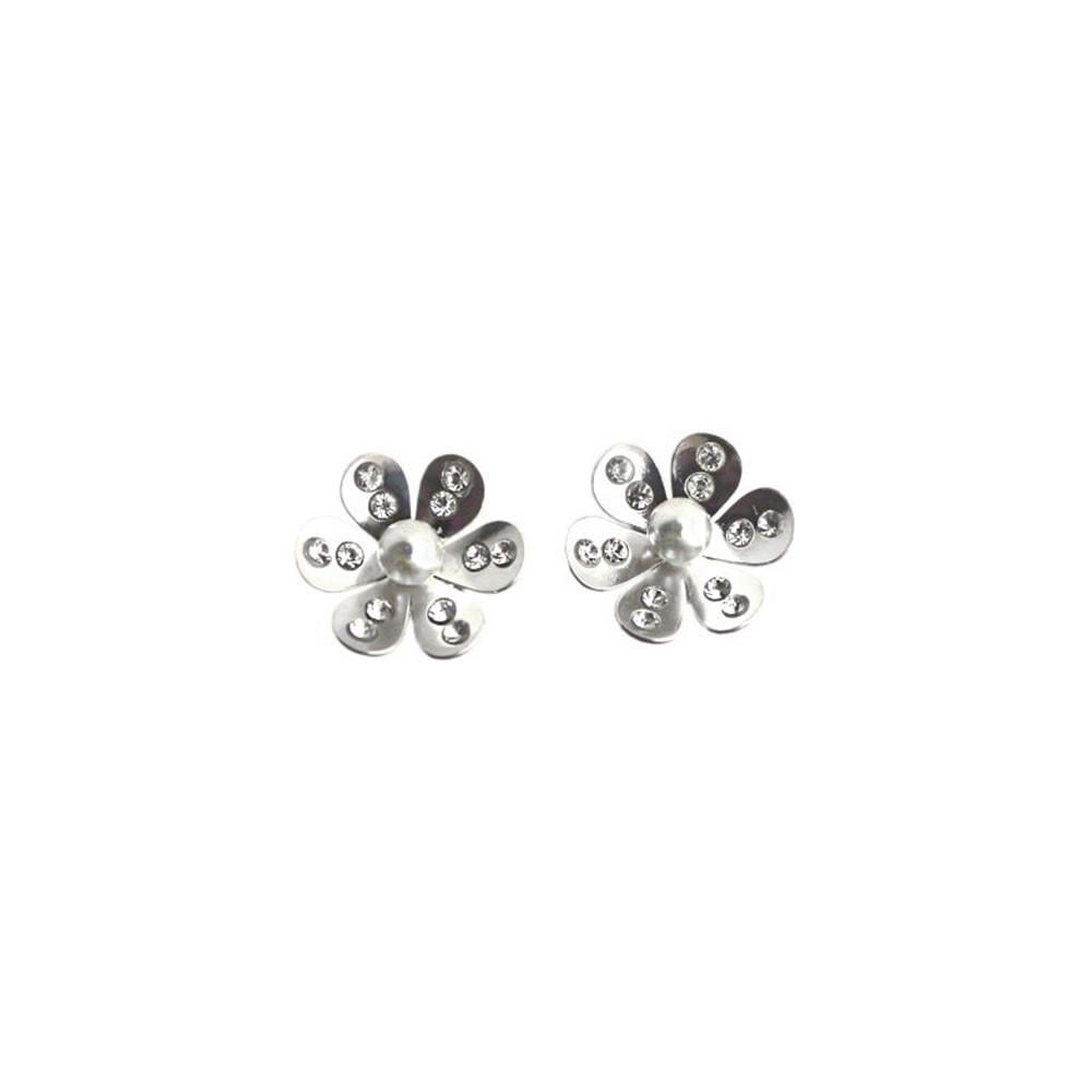 Stříbrné náušnice Pearl Blossom