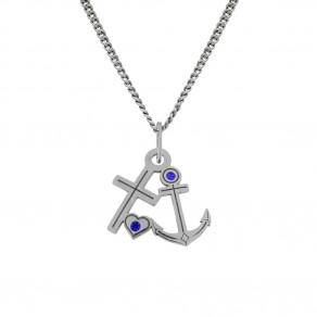Stříbrný přívěsek na řetízku Anchor