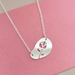 Stříbrný náhrdelník ROSA