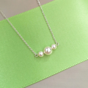 Stříbrný přívěsek na řetízku Satin pearl