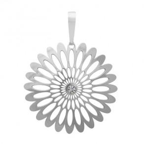 Stříbrný malý přívěšek PA0941m Magic orient Shining Blossom s kamínky Preciosa