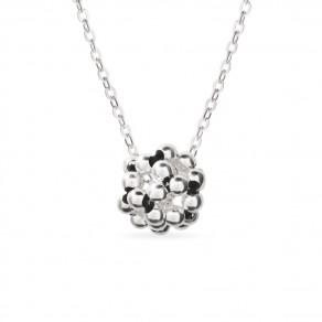 Stříbrný náhrdelník Bolla černý