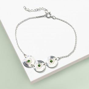 Stříbrný náramek Olive