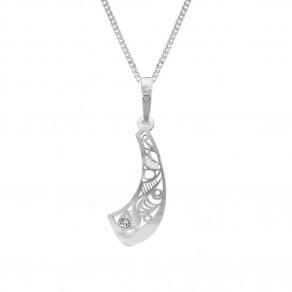 Stříbrný přívěsek na řetízku KO0836M_CU040_50 Saracen