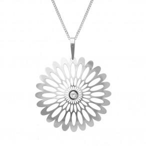 Stříbrný přívěsek na řetízku KO0941V_CU050_50 Shining Blossom