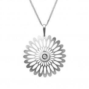 Stříbrný přívěsek na řetízku Shining Blossom