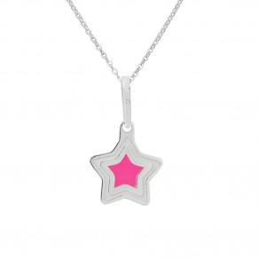 Dětský stříbrný přívěsek na řetízku Vzdálená hvězda