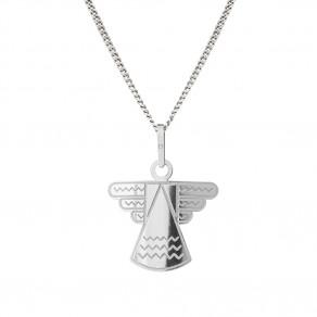Stříbrný přívěsek na řetízku Angel
