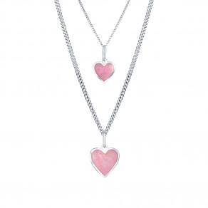 Stříbrný set Pink love