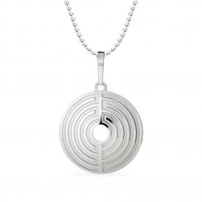 Stříbrný přívěsek na řetízku Labyrinth