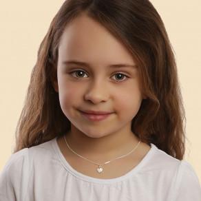 Dětský stříbrný přívěsek na řetízku Krémové srdce