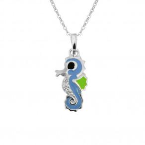 Dětský stříbrný přívěsek na stříbrném řetízku Mořský koník