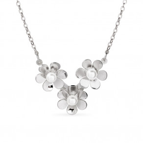Stříbrný náhrdelník Flora