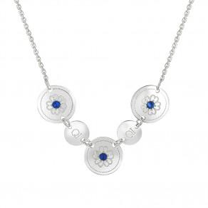 Stříbrný náhrdelník Saphire