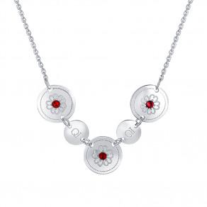 Stříbrný náhrdelník Ruby