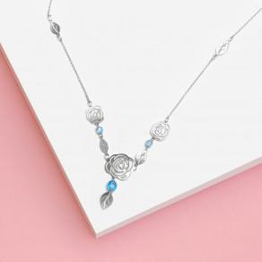 Stříbrný náhrdelník Rose