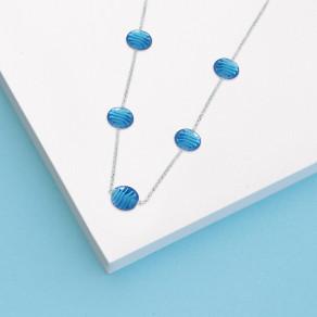 Stříbrný náhrdelník Blue sky